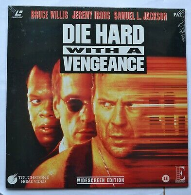Die Hard With A Vengeance (1995) Widescreen PAL Laser Disc (new & sealed)