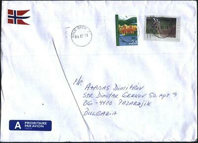 Mailed cover stamps Dear 2009 Oslo European ecological capital 2019 Norway avdpz