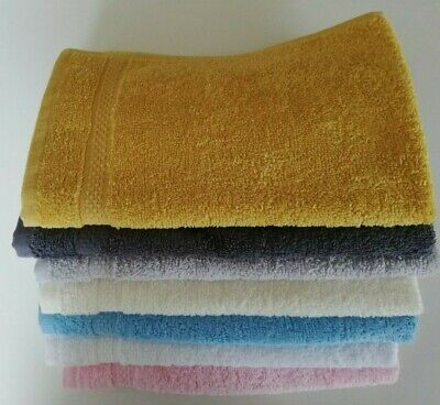 2 Pack 100% Cotton Guest Towels Small Hand Towel Face Cloth 30 x 50cm Kitchen
