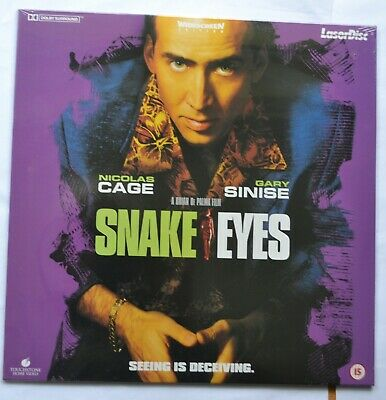 Snake Eyes - Widescreen PAL Laser Disc. Nicolas Cage (new & sealed)