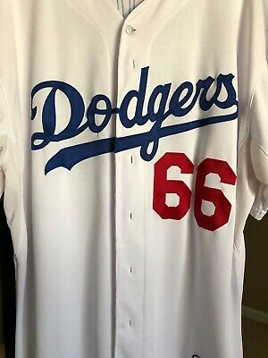 cfa8eb577 Yasiel Puig LA Dodgers Jersey Majestic Authentic Cool Base Baseball MLB Sz  52