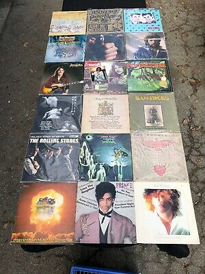 Lot Of (18) Classic Rock Lp Vinyl Records Various Artists Great Collection