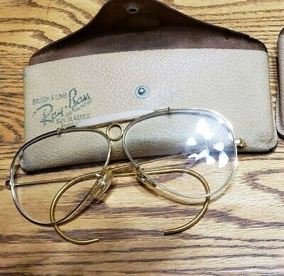 Vintage Bausch & Lomb Ray Ban  Shooter Aviator Glasses ONLY FRAME w/Case