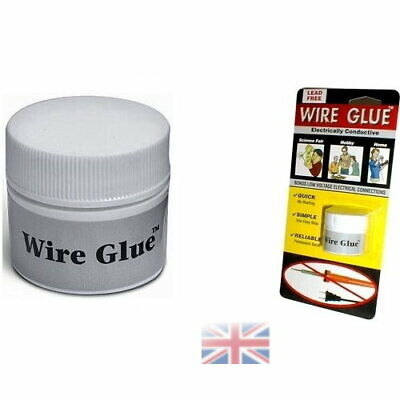 Conductive Wire Glue/Paint NO Soldering Iron/Gun Solder WIRE GLUE UK STOCK