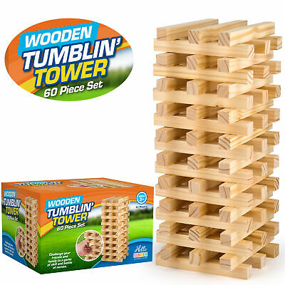 Giant Jumbo Jenga Tumbling Tower Wooden Blocks Outdoor Family Garden Game