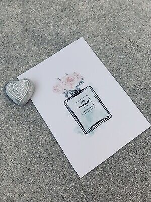 A4 Chanel Perfume Flower Bottle Print High Quality Unframed