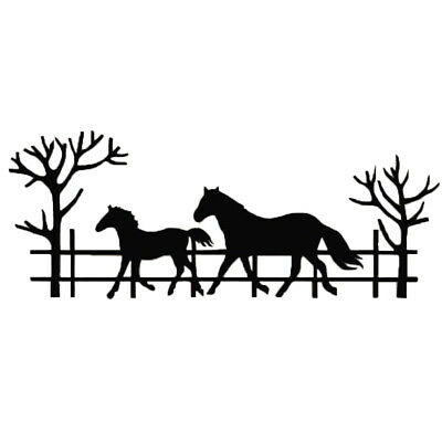 Running Horse dad & baby Border Metal Cutting Dies Stencil 2019 New For DIY