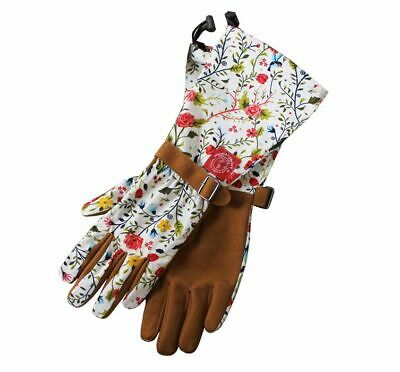Womanswork 717 Womens Garden Gloves Floral Long Sleeve Arm Protection Gauntlet