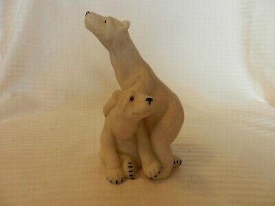 Quarry Critters Peter & Polly Polar Bear Figurine Faux Granite