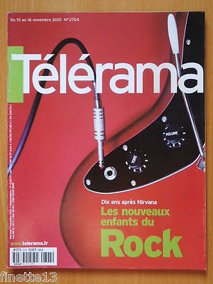 Telerama Nirvana Kurt Cobain The White Stripes Jacques Dutronc Claire Bretecher