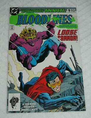 Action Comics Annual #5, 1993, Bloodlines,First Appearance of Loose Cannon,9.0