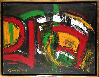 Lydie GERARD Composition Abstraite Abstraction Tableau Huile sur toile Nice