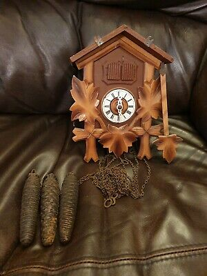 Vintage Donauwellen Cuckoo Clock & Man - pos musical - Spares Or Repairs -German