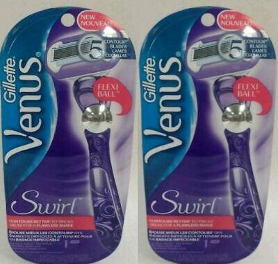 2 PACKS of Gillette Venus Razor Blade Swirl 1 Razor 1Cartridge Pack w/ Flexiball