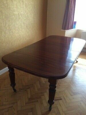 Antique Victorian Mahogany windout extending dining table
