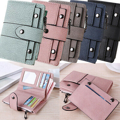 Womens Bifold Pocket Wallet Ladies Mini Purse Coin Purse Card Holder Clip Clutch