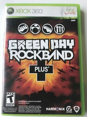 XBOX 360 Live Green Day Rock band Plus MTV Games Rated Teen 2010 Complete