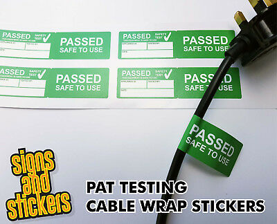 100 Passed Cable Wrap stickers Pat Test labels