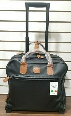 Bric's USA Alba Pilote Underseat Tote Carry On trolley handle