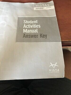 VISTAS STUDENT ACTIVITIES Manual Fifth Edition