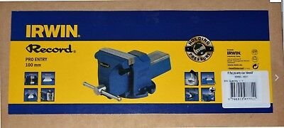 "Irwin Record Pro Entry Mechanic's Vice 100mm ( 4"" ) NEW & BOXED"