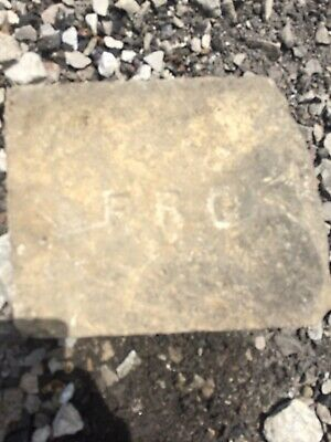 """Antique Brick Very Wide Paver Block Labeled """"FRC"""" Wide Size Salvaged"""