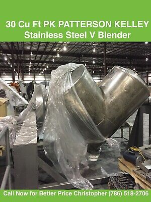 Patterson Kelley 2 Cubic Ft V-blender Stainless Steel Serial # 254919 Process Engineering Equipment Process Mixers