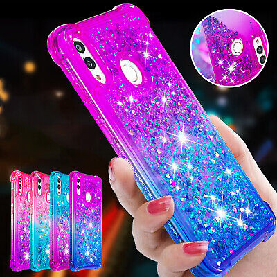For Huawei P Smart 2019 Case Glitter Soft TPU Moving Quicksand Shockproof Cover