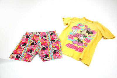 CHILDS VINTAGE LADYBIRD MINNIE MOUSE T CHIRT AND SHORTS SET  1990s  Age 5-6 vgc