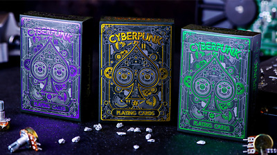 Cyberpunk 4 PACK (Purple, Gold, Green, RED) by Elephant Playing Cards