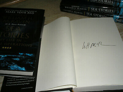 SIGNED 1/1 Sea Stories by William H. McRaven HARDCOVER, NEW 1st print/edition