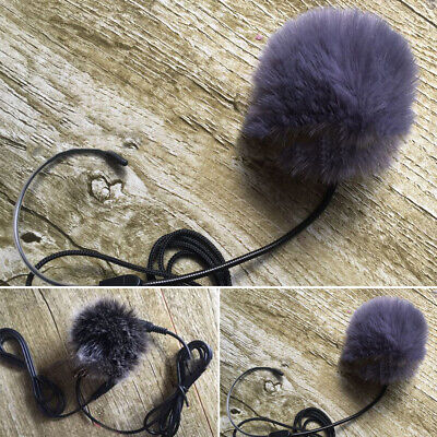 Lapel Microphone Windscreen Windshield Mic Cover Faux Fur Wind Muff Lavalier