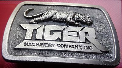 VINTAGE Tiger Machinery Company Inc. BELT BUCKLE Free U.S. Shipping