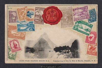 New Zealand Mitre Peak, Milford Sound Muir & Moodie No.59 Postcard
