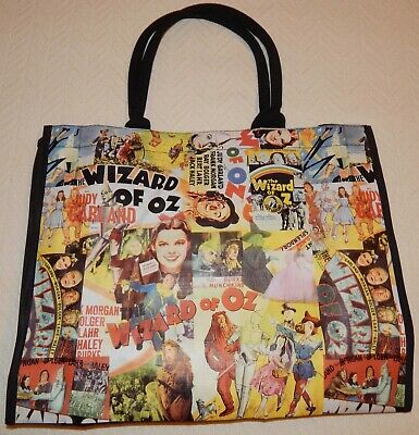 Wizard of Oz Movie Graphic Shopping Bag NWOT