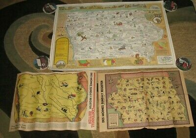 Vintage 1946 The Des Moines Register Sunday Newspaper Iowa Map &1977 Historical