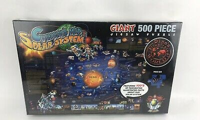 """Children's Map Solar System - Jigsaw Puzzle - 500 Pieces - 24"""" x 36"""" - New"""