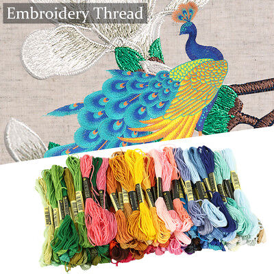 120 Colour Embroidery Thread Bobbin for Cross Stitch Line Floss Craft Storage A