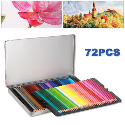 72X Paint Drawing Colouring Set Watercolor Complete Art Pencils Oil Pastel A