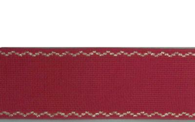 3,5 M Stickband Aida Structure 70mm Red Gold Cotton