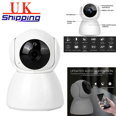 Wireless 1080P Wifi IP Camera CCTV Security Webcam IR Night Baby/Pet Monitor UK