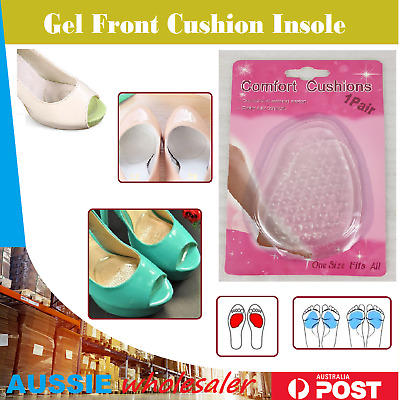 Front Silicone Gel Cushion Insole High Heel Half Pads Feet Shoe Protector