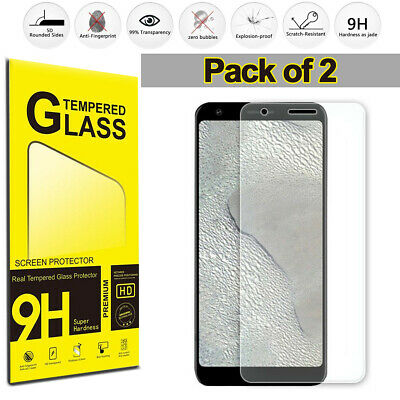 For Google Pixel 3A / Pixel 3A XL [2-Pack] Tempered Glass Screen Protector Cover