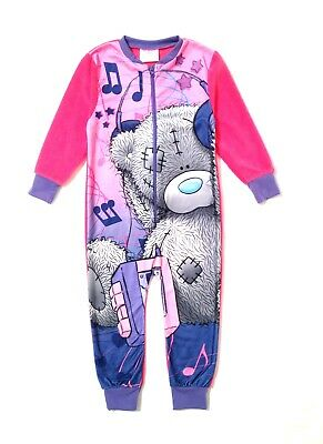 Official Girls Fleece Onezee Character Pyjamas Pjs Xmas Gift Kids Size