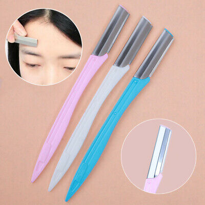 Women Ladies Eyebrow Face Razor Trimmer Shaper Shaver Blade Hair Remover Tool