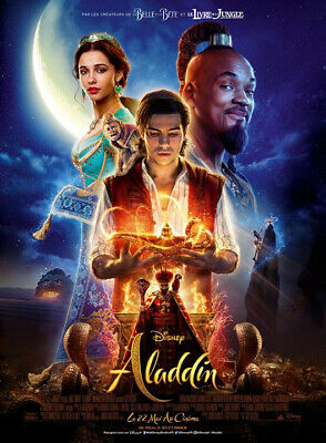 Affiche Pliée 120x160cm ALADDIN (2019) Will Smith, Mena Massoud, Naomi Scott TBE