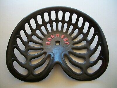 Vintage Hornsby Cast Iron Tractor Plow Seat Original Restored Condition Farming