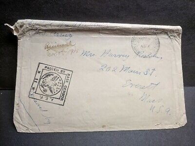 WWI FRANCE AEF 1918 Censored Army Postal History Cover Soldier's Mail