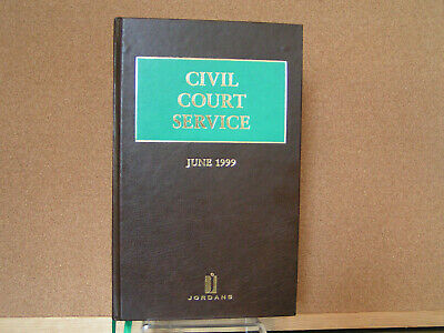 Civil Court Service Ed in Chief Lord Saville June 1999 1st Ed HB ISBN 0853085552
