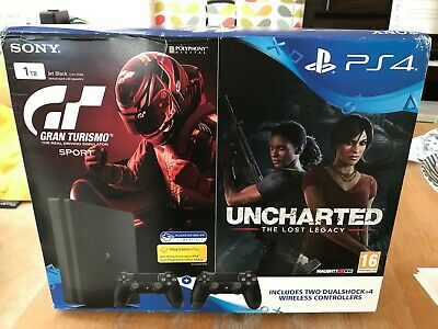 Sony PlayStation PS4 1TB Black plus 2 controllers BOXED. Gran Turismo